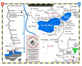 Lac Ste Marie Area Map